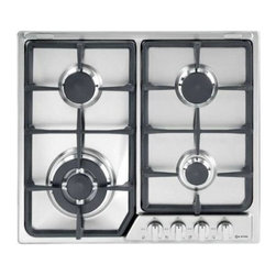 "Verona - Verona 24"" Gas Cooktop Front Control - The Verona 24 inch gas cook top delivers big cooking performance to your small space kitchen. All burners are equipped with Flame FailureSafety, a feature not found on domestic and most imported counter top cookers. The assorted burners handle all of your  Electronic Ignition