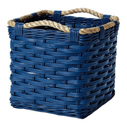 Rope Bin Collection, Cobalt - I love this rope bin collection in cobalt. These baskets would look great in a room with a neutral scheme — a perfect way to add color and storage!