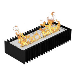 Moda Flame - 24 Inch Ventless Bio Ethanol Fireplace Grate Burner Insert - Converting or customizing your already existing fireplace to ethanol has never been easier with an ethanol fireplace grate. This ethanol fireplace grate burner insert is eco-friendly by burning clean ethanol fireplace fuel.