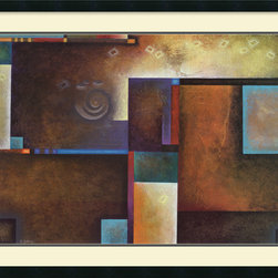 Amanti Art - Satori I Framed Print by Mari Giddings - This Mari Giddings abstract print balances warm with cool tones. It's the perfect complement to your cool toned modern bedroom.
