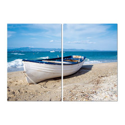 "Baxton Studio - Baxton Studio Leisurely Afternoon Mounted Photography Print Diptych - Sea spray, gentle waves, and wet sand: what better place for an afternoon respite? Display this modern wall art diptych in your home or office and imagine drifting away to your happy place in this rustic rowboat. A single image split into two separate sections, the Leisurely Afternoon photo is printed on waterproof vinyl with vivid inks and is mounted to two hollow MDF wood frames. Though fully assembled and ready to hang, mounting hardware is not included with purchase. This modern wall art set is made in China and can be cleaned with ease: simply wipe clean with a dry cloth. Product dimension: 15.75""W x 1""D x 23.62""H"