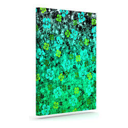 """Kess InHouse - Ebi Emporium """"Luck of the Irish"""" Green Floral Wrapped Art Canvas (12"""" x 10"""") - Bring your outdoor patio to life with this artistic outdoor canvas wrap featuring gorgeous artwork by KESS InHouse. These canvases are not only easy to hang and remove but also are the perfect addition to your patio collection. These canvases are stretched around a wooden frame and are built to withstand the elements and still look artistically fabulous. Decorating your patio and walls with these prints will add the splash of art and color that is needed to bring your patio collection together! With so many size options and artwork to choose from, there is no way to go wrong with these KESS Canvas Wraps!"""