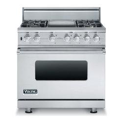"Viking 36"" Pro-style Dual-fuel Range, Stainless Liquid Propane | VDSC5364GSSLP - 4.9 CU FT CAPACITY SELF CLEAN OVEN"