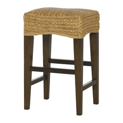 Hammary - Hammary Hidden Treasures 30 in. Woven Backless Bar Stool - Dark Brown - 090-584 - Shop for Stools from Hayneedle.com! A tropical take on a classic pub stool the Hammary Hidden Treasures 30 in. Woven Backless Bar Stool - Dark Brown takes your bar seating to new heights. This backless stool is built with a solid wood frame topped with a cushy woven banana-leaf seat. Its smooth dark wood contrasts nicely with the textural light woven material. Its backless design ensures easy conversation and the built-in footrests are there for comfort.About Hammary Furniture CompanyHammary Furniture Company was started in 1943 by furniture craftsman Hamilton Bruce. The name Hammary is a combination of Hamilton and Mary (Hamilton's wife's name). Hammary is now a division of La-Z-Boy Incorporated and they specialize in providing quality home furniture for today's modern families and homes. Hammary offers a variety of occasional-table styles and other furniture for home office casual dining and bedroom in all shapes sizes and materials.