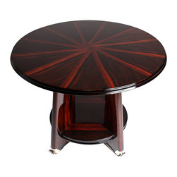 Art Deco Round Side Table With Metal Legs - The HighBoy, The Golden Triangle