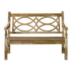Hatfield Bench - The Hatfiled Bench boasts the classic features of a traditional English garden bench.  The well-proportioned solid seat is juxtaposed with the airy geometric pattern of the back. The perfect touch of European decor, the bench beckons guests to relax upon entering a foyer or grand hallway, and also complements the transitional decor of any of your rooms. Its rustic yet charming appeal is further enhanced by its concrete construction.