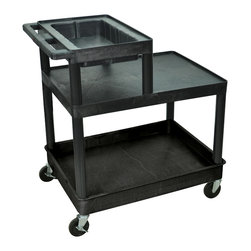Luxor - Luxor Transport Cart - LPT42-B - Luxor's LPT tool/utility carts are made from polyethylene shelves that will not scratch, dent, rust or stain.