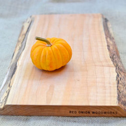 Rustic Wood Cutting Board, Natural Edge, Salvaged 372 by Red Onion Woodworks - I'm totally smitten with these natural-edge cutting boards from Red Onion Works. They'd work perfectly for serving cheese or for an extra special centerpiece.