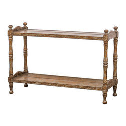 Uttermost - Uttermost Macaire Wooden Sofa Table - 25597 - Uttermost Macaire Wooden Sofa Table - 25597
