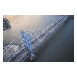 Custom Photo Factory - Manhattan Bridge , New York City Canvas Wall Art - Manhattan Bridge , New York City  Size: 20 Inches x 30 Inches . Ready to Hang on 1.5 Inch Thick Wooden Frame. 30 Day Money Back Guarantee. Made in America-Los Angeles, CA. High Quality, Archival Museum Grade Canvas. Will last 150 Plus Years Without Fading. High quality canvas art print using archival inks and museum grade canvas. Archival quality canvas print will last over 150 years without fading. Canvas reproduction comes in different sizes. Gallery-wrapped style: the entire print is wrapped around 1.5 inch thick wooden frame. We use the highest quality pine wood available. By purchasing this canvas art photo, you agree it's for personal use only and it's not for republication, re-transmission, reproduction or other use.