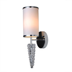 Bromi Design - Bromi Design Saffron 1 Light Wall Sconce in Chrome - The Bromi Design Saffron 1 Light Wall Scone boasts a Chrome mirror finish with a distinctive and edgy contemporary allure.
