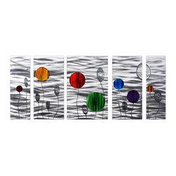 Matthew's Art Gallery - Metal Wall Art Silver Balloon Parade - Name:
