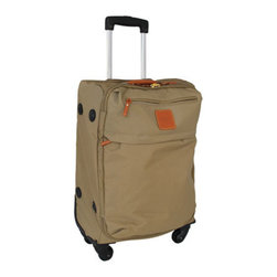 """Bric's - Bric's X-Bags 21"""" Trolley - Leather-trimmed nylon bags with polyester lining combine lightweight mobility with good looks. Imported. Please choose color below. Duffel bag, 22""""W x 8""""D x 15""""T. Large sportina bag, 18""""W x 6""""D x 14""""T. Large urban """"envelope"""" bag, 12""""W x 1""""D x 11""""T. ...."""