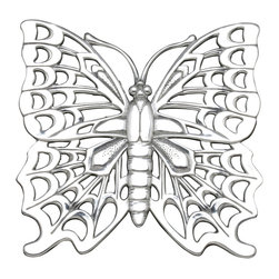 Arthur Court - Butterfly Trivet - Elegant and beautiful, it's nice to know this trivet can also take the heat. Of course, you'll bring it to the table when you have a party. But this butterfly is created of ultra-durable, sand-cast aluminum, so it can handle whatever your family dishes out every day in the kitchen as well.