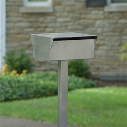 Bremerton Stainless Steel Mailbox and Post Set - Brushed Stainless Steel - Add instant appeal to your house with the Bremerton Stainless Steel Mailbox. The solid 304-grade stainless steel construction will ensure this mailbox will hold up to the elements.