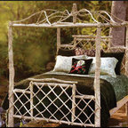 Handcrafted, American Made Genesee River Trading Co. Treillage Canopy Bed -