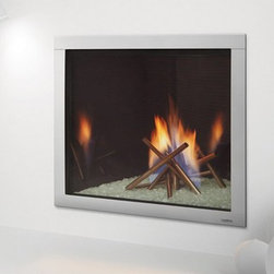 Heat & Glo LUX Series Gas Fireplace - The LUX delivers custom looks—without custom costs or installation hassles. Colorful flames rise through sculpted stainless steel while a reflective black glass interior multiplies the fire and radiates the flames. It's an innovative blend of technology, design and safety that creates modern art, on fire.