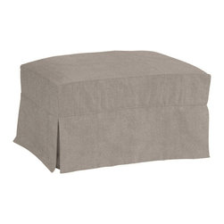 Ballard Designs - Suzanne Kasler Signature 13oz Linen Davenport Ottoman Slipcover - Coordinates with Suzanne's linen panels, tablecloths & pillows. Easy to change with the seasons & to remove for cleaning. Dry clean. Imported. Suzanne's best-selling line of luxurious linens now include slipcovers designed exclusively to fit our best-selling Davenport Ottoman. Hand finished with strong, over-locking seams and custom fitted to prevent shifting and bunching. A Davenport Slipcover is necessary when ordering any Davenport frame.Suzanne Kasler Davenport Ottoman Slipcover features: . . . .