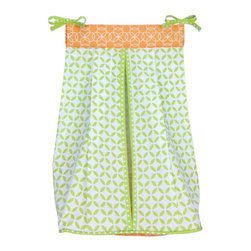 Trend Lab - Trend Lab Baby Savannah and Levi Diaper Stacker - 110283 - Shop for Diaper Stackers from Hayneedle.com! It's handy it's convenient and the Trend Lab Baby Savannah and Levi Diaper Stacker matches the Baby Savannah collection just right. It features a white and chartreuse green lattice print tiger orange and white geometric circle print top and a chartreuse green and white mini dot print trim and ties complete this convenient storage option. It also has ties that allow for easy attachment to most dressers and changing tables.About Trend LabFormed in 2001 in Minnesota Trend Lab is a privately held company proudly owned by women. Rapid growth in the past five years has put Trend Lab products on the shelves of major retailers and the company continues to develop thoroughly tested high-quality baby and children's bedding decor and other items. Trend Lab continues to inspire and provide its customers with stylish products for little ones. From bedding to cribs and everything in between Trend Lab is the right choice for your children.