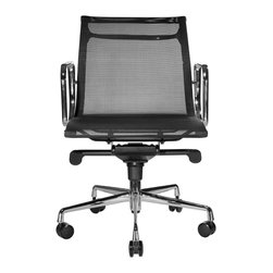 Wobi Office - Wobi Reed Mesh, Lowback, Black - It's time to get rid of that battered, squeaky desk chair and replace it with this new, ergonomic and durable mesh office chair. Your back (and ears) will no doubt thank you.