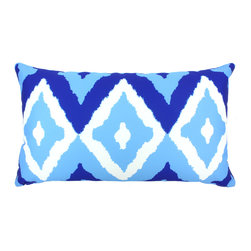 "DD - Del Mar Outdoor Pillow 24"" x 14"" - This lovely Del Mar Outdoor Pillow will add fun and flare to your outdoor space."