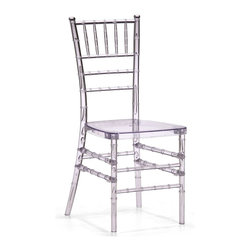 Zuo Modern - Zuo Modern Diamond Modern Dining Chair X-911201 - A modern take on a classical shape and structure, the Diamond dining chair unites every classical dining room into the modern age. Made of clear polycarbonate.