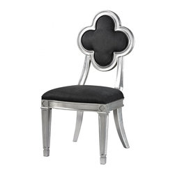 Sterling Industries - Petal Back Dining Chair In Grey - PETAL BACK DINING CHAIR IN GREY