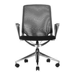 Wobi Office - Wobi Marco Lowback Chair, Mesh (Fixed Arms) - Big or tall, short or small, this chair will adjust to fit your needs. It has a mechanism for whatever part of your body you need to raise or lower and will keep you comfortable for the long haul.