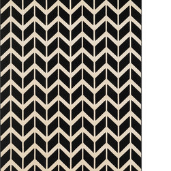 Alexander Home - Presley Chevron Trellis Rug (7'7 x 10'6) - Stay hip with the earthy palette of hues in the new Presley rug.  Power-loomed in Turkey,the resilient polypropylene fiber is tightly packed and durable.