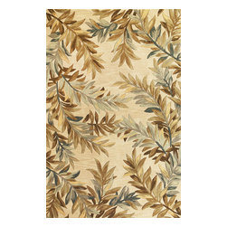 KAS - Sparta Tropical Branches 3126 Ivory Rug by Kas - 5 ft 6 in Rnd - The use of floral patterns and color stylings is simply amazing in the Sparta Collection from Kas. Hand tufted of high-density wool, each rug potrays an unqiue floral arrangement that is both elegant and fashion forward. The use of different colors is simply wonderful with each peice more eye-popping than the next. If it's a floral themed rug you are in the market for, look no further than the Sparta Collection from Kas.