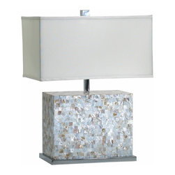 Mother of Pearl Shell Tile Table Lamp - *Shell Tile Lamp