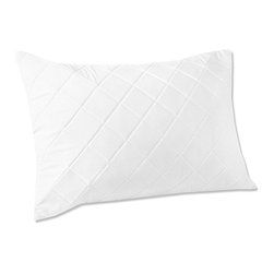 None - Quilted Memory Foam Pillow Protectors (Set of 2) - These pillow protectors feature comfortable microfiber on the outside, with soft plushy memory foam in the interior for greatly added comfort during sleep. Two pillow protectors are included in this set.