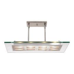 Joshua Marshal - Clear Four Light Down Lighting Dual Mount Ceiling Fixture - Clear Four Light Down Lighting Dual Mount Ceiling Fixture