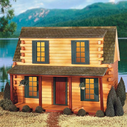 Real Good Toys - Real Good Toys Finished Adirondack Log Cabin Dollhouse - 00052-A - Shop for Dollhouses and Dollhouse Furnishings from Hayneedle.com! Whether he wants to build a hunting cottage or a home in the woods the Real Good Toys Finished Adirondack Log Cabin Dollhouse Kit - 1 Inch Scale is crafted for the likes of Paul Bunyan or Davy Crockett. The house comes completely finished and assembled including nonworking windows with mullions and furniture sold separately. Solid pine walls and stained wooden roof shingles provide excellent detail and create a totally real look while the stained and varnished hardwood floors complete the look. Built to 1-inch scale. About Real Good ToysBased in Barre Vt. Real Good Toys has been handcrafting miniature homes since 1973. By designing and engineering the world's best and easiest to assemble miniature homes Real Good Toys makes dreams come true. Their commitment to exceptional detail the highest level of quality and ease of assembly make them one of the most recommended names in dollhouses. Real Good dollhouses make priceless gifts to pass on to your children and your children's children for years to come.