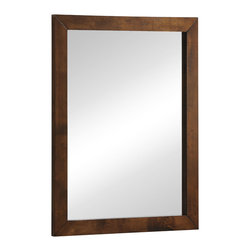 Zuo - LA Mirror - The LA Mirror is as chic and cool as Los Angeles itself. Crafted of solid rubberwood with a walnut wood veneer, this modern mirror has clean lines and mid-century modern appeal. The LA Mirror features a sleek, flat frame around a large looking glass. The frame offers subtly knotted wood finished in a contemporary walnut stain. This mirror is excellent for the bedroom or entry hall, or over a vanity. Choose this piece to coordinate with your sensible modern decor. The LA Collection also features a double dresser, a high chest of drawers, a night stand, and king and queen size beds.