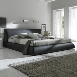 Rossetto Furniture - Coco Brown Queen Bed - 4990007053BQB - Modern Italian Design