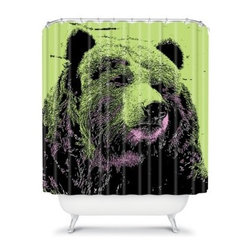 DENY Designs Romi Vega Bear Shower Curtain - To miss out on the DENY Designs Romi Vega Bear Shower Curtain would be simply unbearable. All puns aside, this woven polyester shower curtain takes your expectation of shower curtains and turns it on its head. You won't ever look back at those traditional curtains again after you've experienced this American-made piece of art.About DENY DesignsDenver, Colorado based DENY Designs is a modern home furnishings company that believes in doing things differently. DENY encourages customers to make a personal statement with personal images or by selecting from the extensive gallery. The coolest part is that each purchase gives the super talented artists part of the proceeds. That allows DENY to support art communities all over the world while also spreading the creative love! Each DENY piece is custom created as it's ordered, instead of being held in a warehouse. A dye printing process is used to ensure colorfastness and durability that make these true heirloom pieces. From custom furniture pieces to textiles, everything made is unique and distinctively DENY.