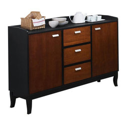 Cramco - Cramco Sunny Sideboard in Cherry and Black - Features:
