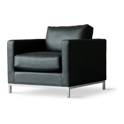 Gus Modern Trudeau Chair, Essentials Leather Black