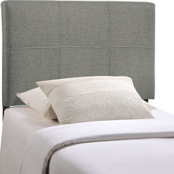 Quad Twin Fabric Headboard - Equilibrium abounds with the balanced symmetry of the Quad headboard. Introduce ten equal planes of tranquility with a design that imbues your decor with calming elegance. Quad is made from fiberboard, plywood and fine polyester upholstering for a construction that is both lightweight and long-lasting. Perfect for contemporary and modern bedrooms, Quad makes it easy to sleep peacefully while fostering an environment of composure and resolve. Fits twin size beds.