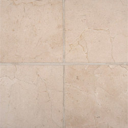 "Marbleville - MSI Crema Marfil 6"" x 6"" Polished Marble Floor and Wall Tile - Premium Grade Crema Marfil 6"" x 6"" Honed Mesh-Mounted Marble Mosaic is a splendid Tile to add to your decor. Its aesthetically pleasing look can add great value to the any ambience. This Mosaic Tile is constructed from durable, selected natural stone Marble material. The tile is manufactured to a high standard, each tile is hand selected to ensure quality. It is perfect for any interior/exterior projects such as kitchen backsplash, bathroom flooring, shower surround, countertop, dining room, entryway, corridor, balcony, spa, pool, fountain, etc."