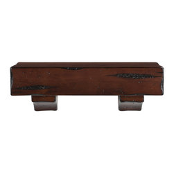 "Pearl Mantel - The Shenandoah Fireplace Surround, Rustic Cherry, 24"" - Room at the top: All your beloved mementos, photos and treasures can rise above the general milieu by taking up residence on a charming if rustic wood shelf."