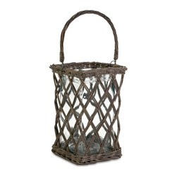 "IMAX - Luna Large Candle Lantern - Warm your garden party or cookout with this rustic willow Luna large candle lantern. Item Dimensions: (13.75""h x 9.75""w x 11.5"")"