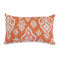 Majestic Home Goods - Peach Raja Small Pillow - Add a splash of color and a little texture to any room with these plush pillows by Majestic Home Goods. The Majestic Home Goods yellow Alli small pillow will instantly lend a comfortable look to your living room, family room or bedroom. Whether you are using them as decor throw pillows or simply for support, Majestic Home Goods small pillows are the perfect addition to your home. These throw pillows are woven from cotton twill, and filled with super loft recycled polyester fiber fill for a comfortable but durable look. Spot clean only.