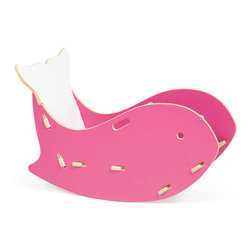 Sprout - Whale Chair, Pink - *Exclusive to Houzz. Your kids will love rocking out to in the whale chair.  Inspired by one of our favorite underwater friends, the whale chair is great for sitting or rocking.  And parents love it too.  The whale rocker assembles in less than 5 minutes with no tools and no harware using our patented Tension Lock Tool-less joint system.  Tips up for easy storage in the corner when not in use.