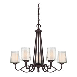 Quoizel Lighting - 5 Light Single Tier Up Light ChandelierAdonis Collection - A blend of traditional curves and transitional arches, this Adonis Five Light Single Tier Up Light Chandelier features a modern elegance fit for the modern traditionalist.