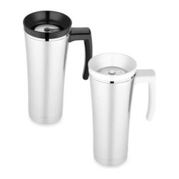 Thermos - Thermos Sipp Vacuum Insulated Travel Mug - This handy travel mug from Thermos features TherMax double wall vacuum insulation for maximum temperature retention. It is able to keep hot beverages hot for up to 5 hours and cold beverages cold for up to 9 hours.
