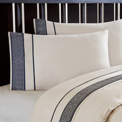 None - Artology 'Sashiko' 300 Thread Count Natural Embroidered Sheet Set - Sashiko is inspired by authentic,antique quilted and embroidered Japanese fisherman coats from the fishing villages in northern Awaji,Japan.