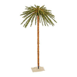7 ft. Artificial Pre-Lit Christmas Palm Tree - 7 ft. Christmas Palm Tree
