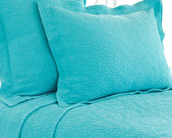 Pine Cone Hill - Pine Cone Hill Scramble Aqua Matelasse Coverlet - Pine Cone Hill Scramble Aqua Matelasse CoverletGive your bedroom some fun style with the Scramble Aqua Matelasse Coverlet from Pine Cone Hill. The soft cotton coverlet features a bright aqua hue that's cheerful and fresh. Stitched branches add pretty detailing and subtle texture. Pair it with orange and pink for a bold, hip look, or let it be a trendy pop of color against white sheets.Available in three sizes